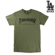 Skate Mag Short Tee - Army green
