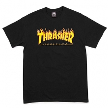 Flame Logo Short Tee - Black