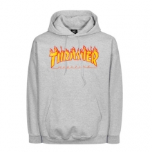 Flame Logo Hood - Grey