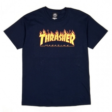 Flame Logo Short Tee - Navy
