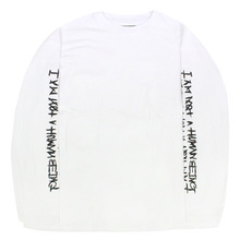 Basic Logo Foaming Printing Long Sleeve - White