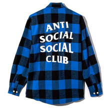 [Anti Social Social Club] Flannel Shirts - Blue