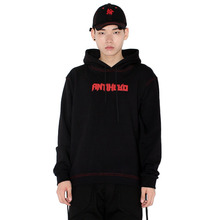 [HAN CHUL LEE]SIDE OPEN HOODIE - RED BLACK