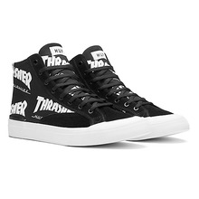 [HUF x Thrasher] Classic Hi TDS Skate Shoes - Black/White