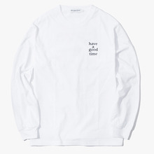 [Have a good time] Logo L/S Tee - White