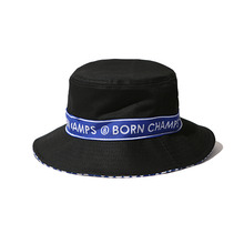 [Bornchamps] BC TAPE BUCKET HAT - BLACK