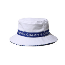 [Bornchamps] BC TAPE BUCKET HAT - WHITE