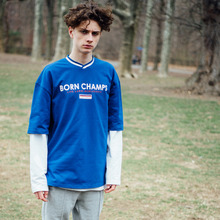[Bornchamps] BC BASE OVERFIE TEE - BLUE