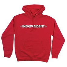 [INDEPENDENT] Bar/Cross Pullover Hooded L/S Sweatshirt - Red
