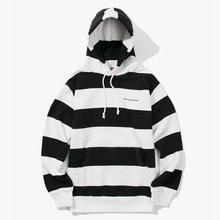 [Have a good time] FW17 Stripe Pullover Hoodie - Black/White