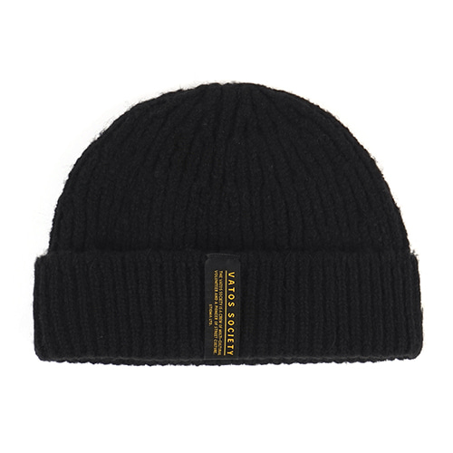 [STIGMA]GORGE SHORT BEANIE - BLACK
