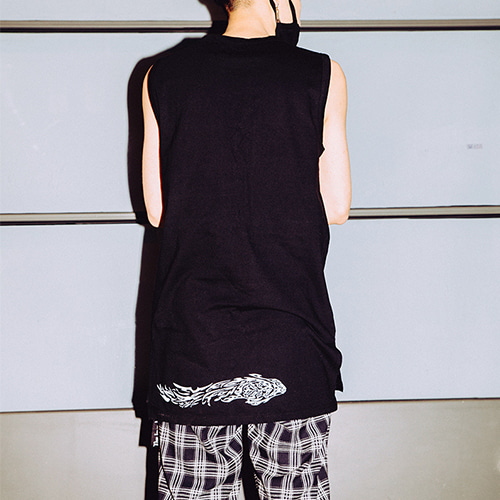 [A.Clown(에이클라운)]Wing Layered Sleeveless(Ver.2)(블랙/화이트)