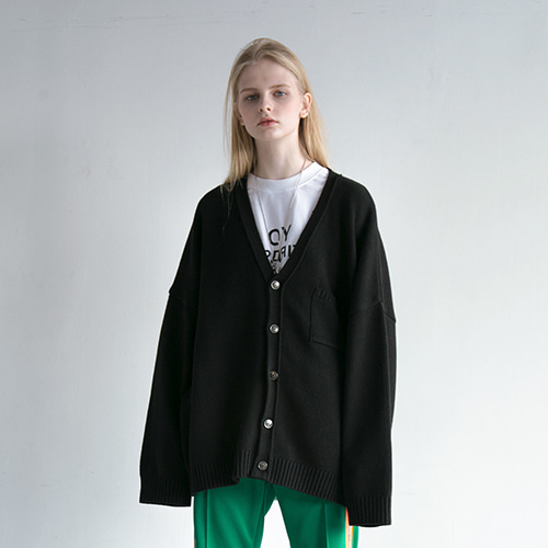 [OY] OY DISPARITION CARDIGAN - BK