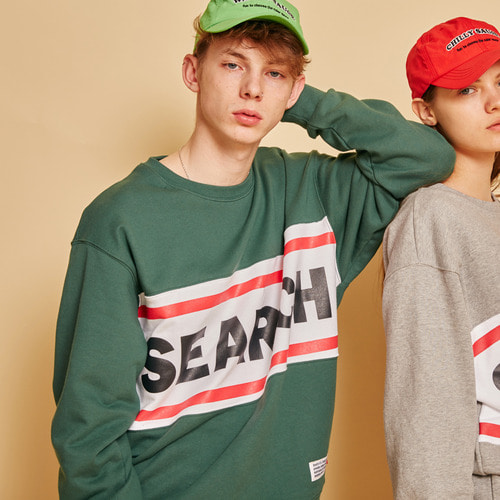 [써치410] SEARCH UNISEX R LINE MTM _ GREEN