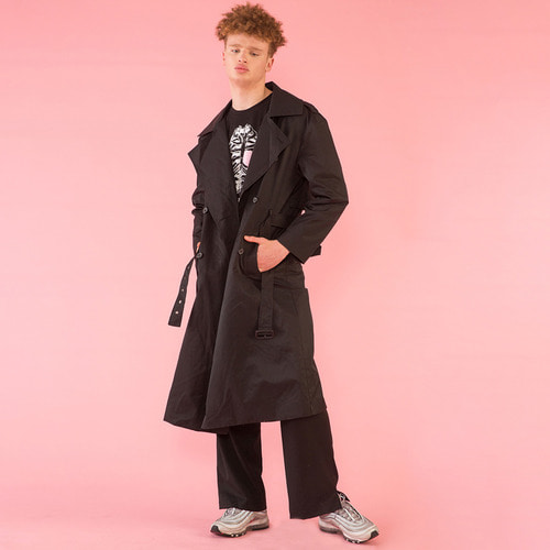 [DUCK DIVE]O.S.L TRENCH COAT _ BLACK