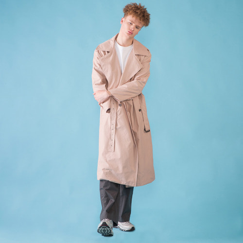 [DUCK DIVE]O.S.L TRENCH COAT _ PINK BEIGE