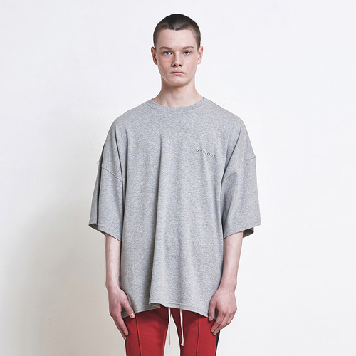 [D.PRIQUE] Oversized Logo T-shirt Grey