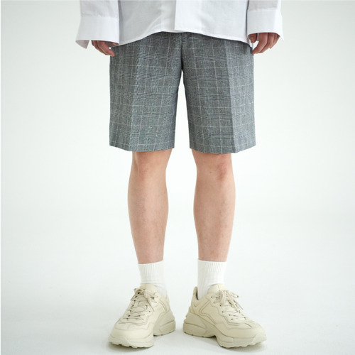 [NOT N NOT]NOT COOL LINEN CHECK HALF PANTS