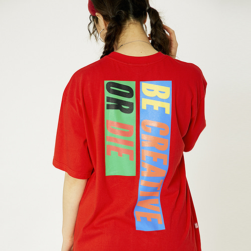 [매드마르스]6 SLOGAN T-SHIRTS_RED