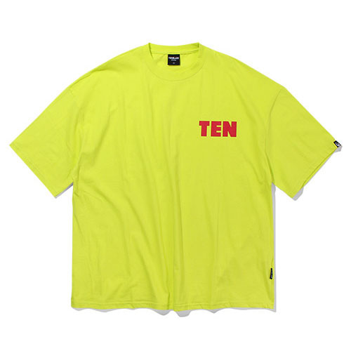[TENBLADE] Oversized TEN Graphic Print Tee_Neon
