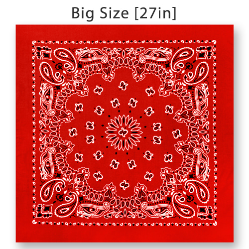 [Rothco] Rothco 27inch Big Trainmen Bandana - Red
