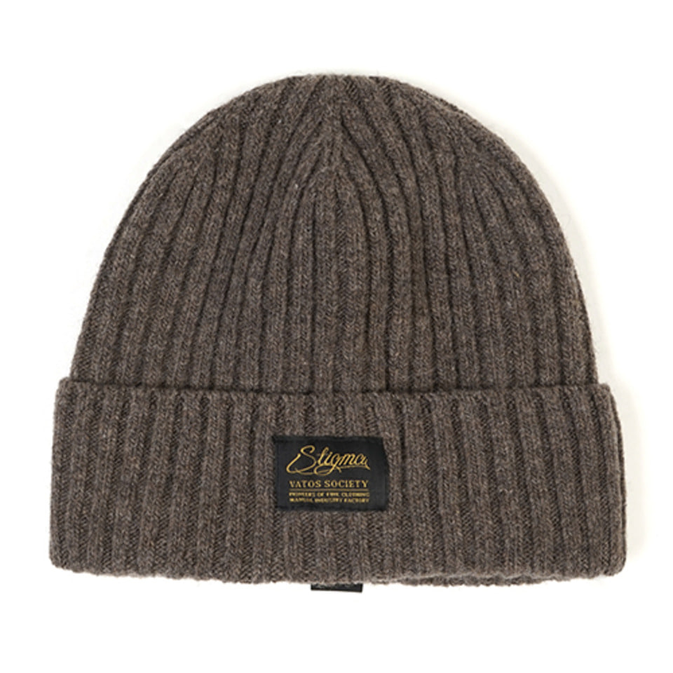 [STIGMA]LABEL WOOL BEANIE - BEIGE