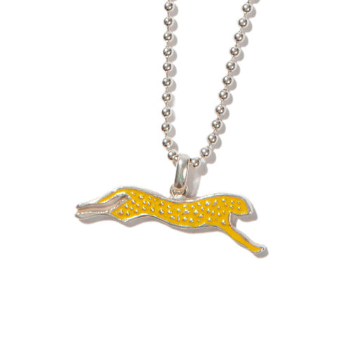 [KRUCHI] Cheetah necklace (silver,yellow)