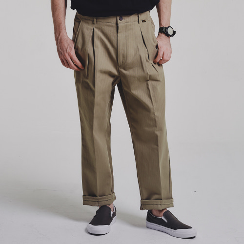 [STAGE NAME]  HBT wide pants_BEIGE