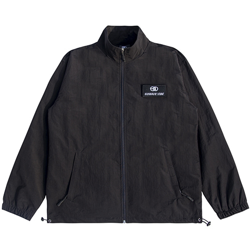 [NOWAVE] WOVEN TRACK TOP - Black