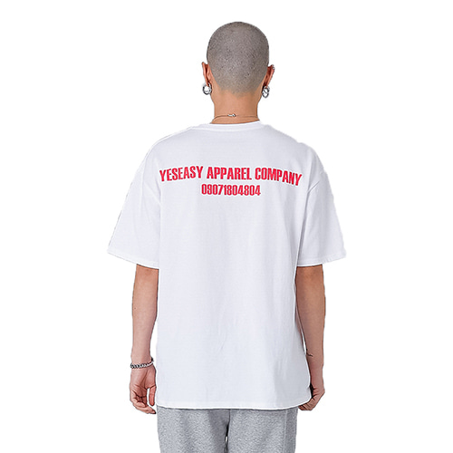 [YESEASY] YAC T_SHIRT - WHITE