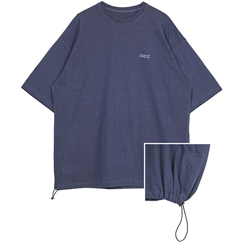 [FLARE UP] reversible pigment string T-shirt (FU-141_navy blue)