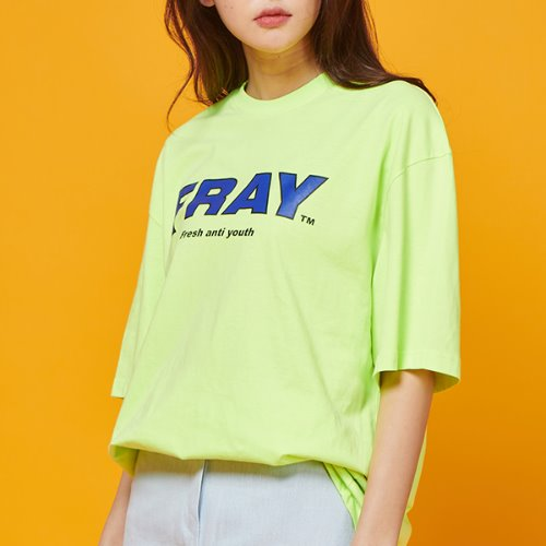 FRAY BIG LOGO T-SHIRTS - NEON