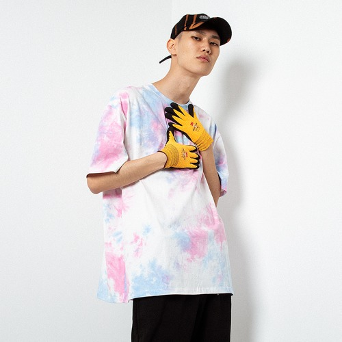 [OBJECT] TIE DYE OVERSIZED T-SHIRT - PINK