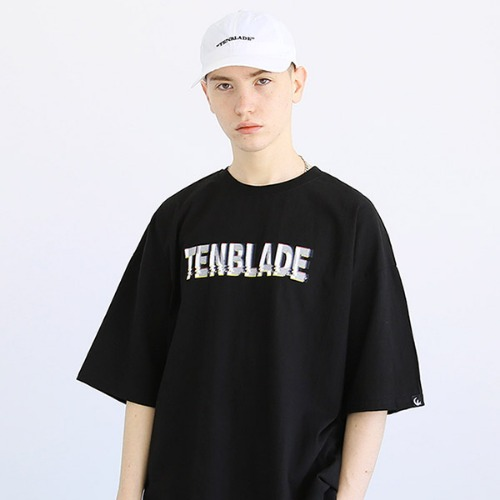 [TENBLADE] Black out T-shirt-tai157ss-black