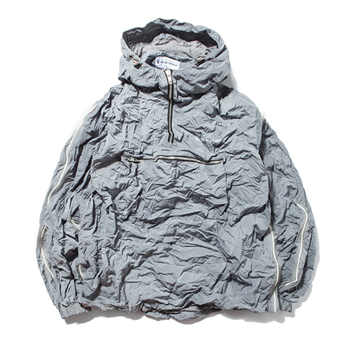 [KING]Crinkled Anorak Jacket -Grey