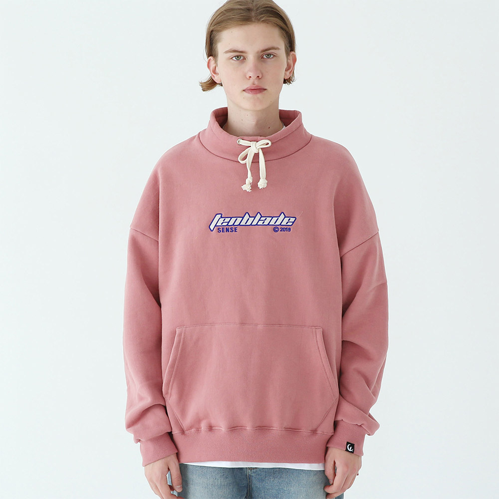 [TENBLADE] outdoor gothic logo pullover pale-pink