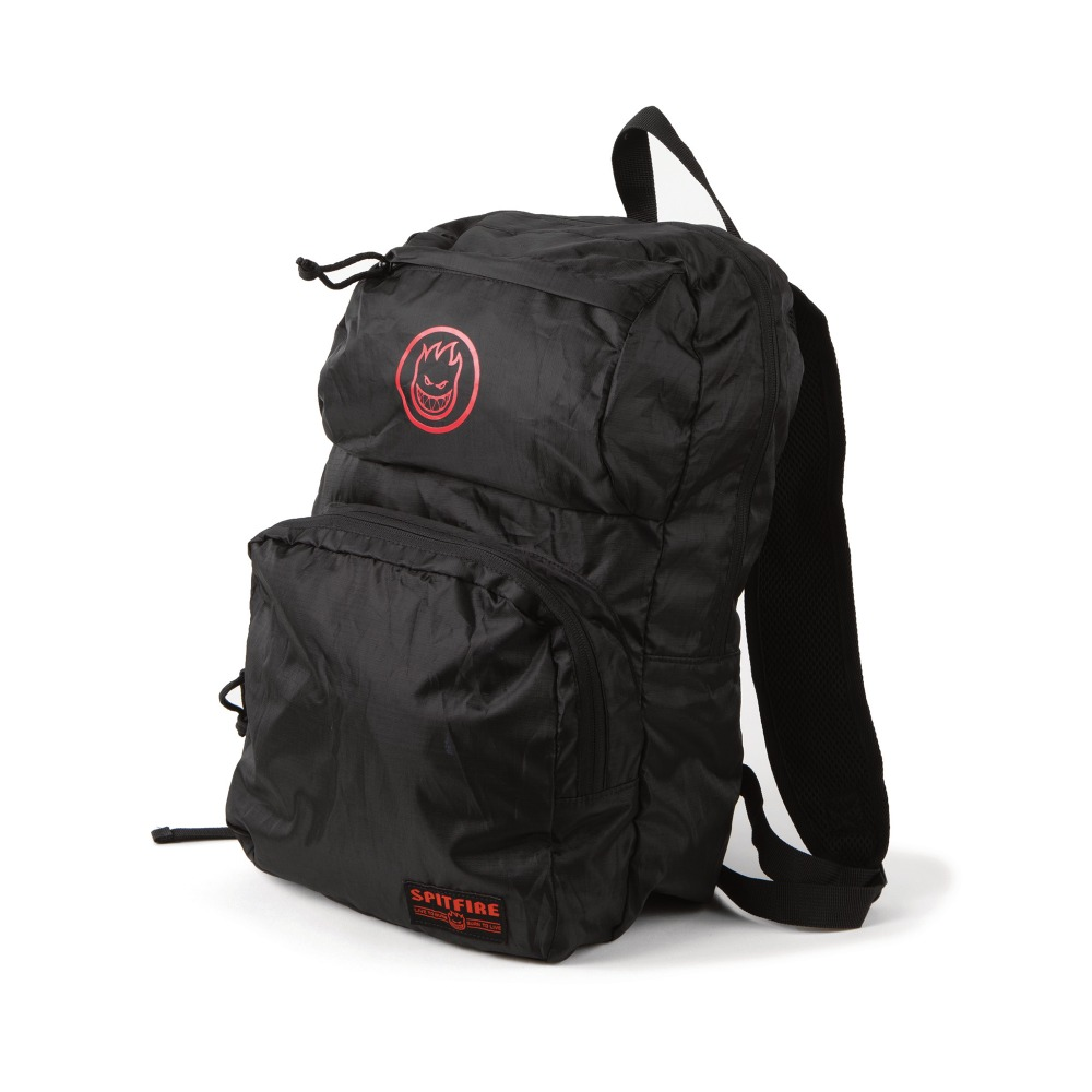 [Spitfire] BIGHEAD CIRCLE Packable Backpack/Shoulder Bag - BLACK/RED 60010048A00