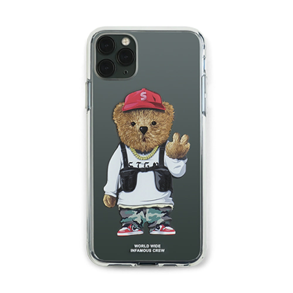 [STIGMA]PHONE CASE V BEAR CLEAR iPHONE 11 / 11 Pro / 11 Pro Max
