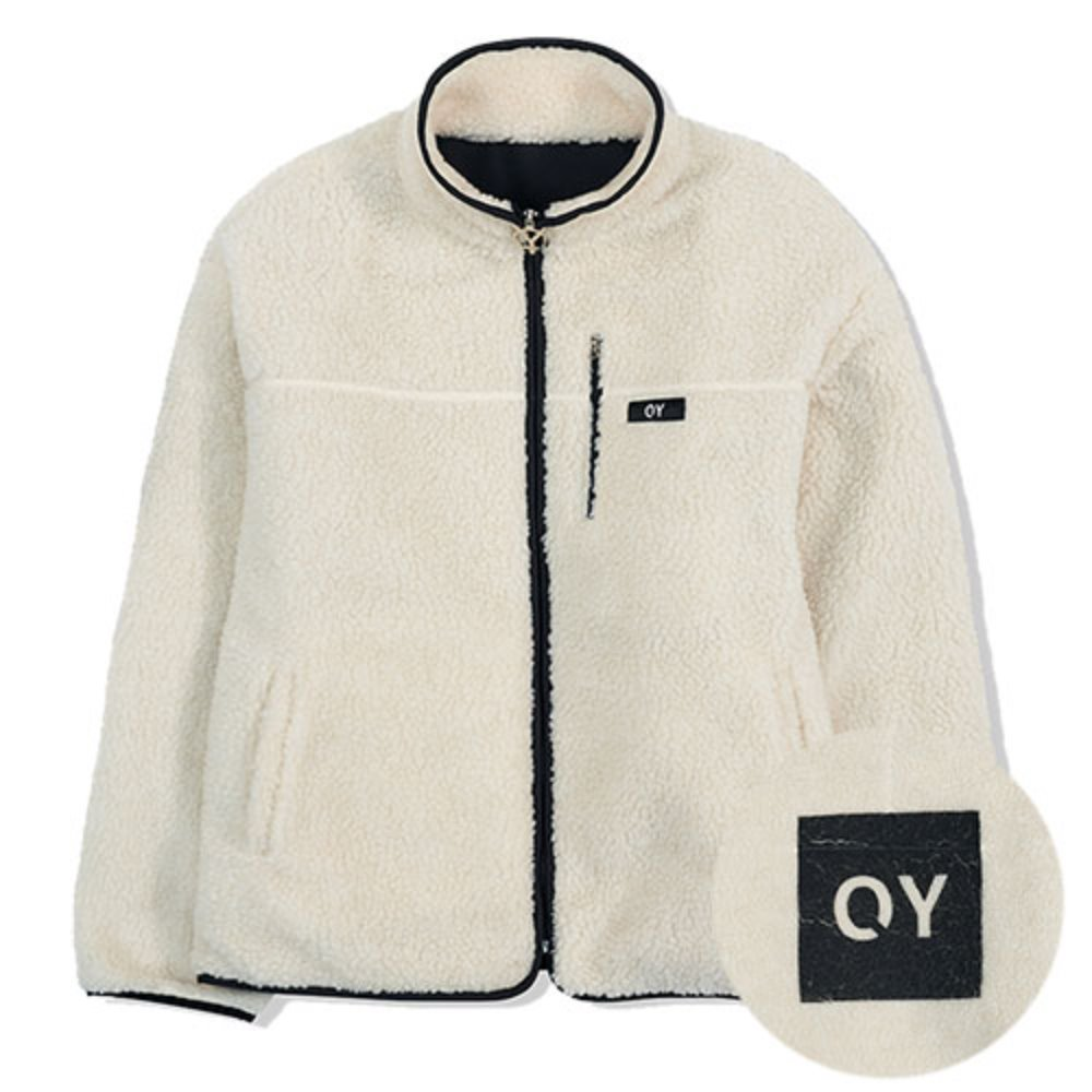 [OY] FLEECE JACKET-WHITE
