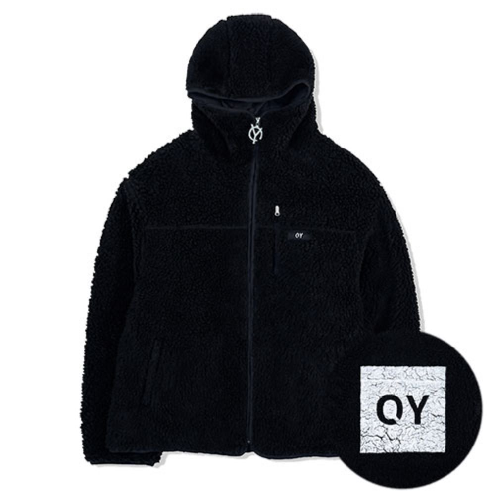 [OY] FLEECE HOODIE JACKET-BLACK