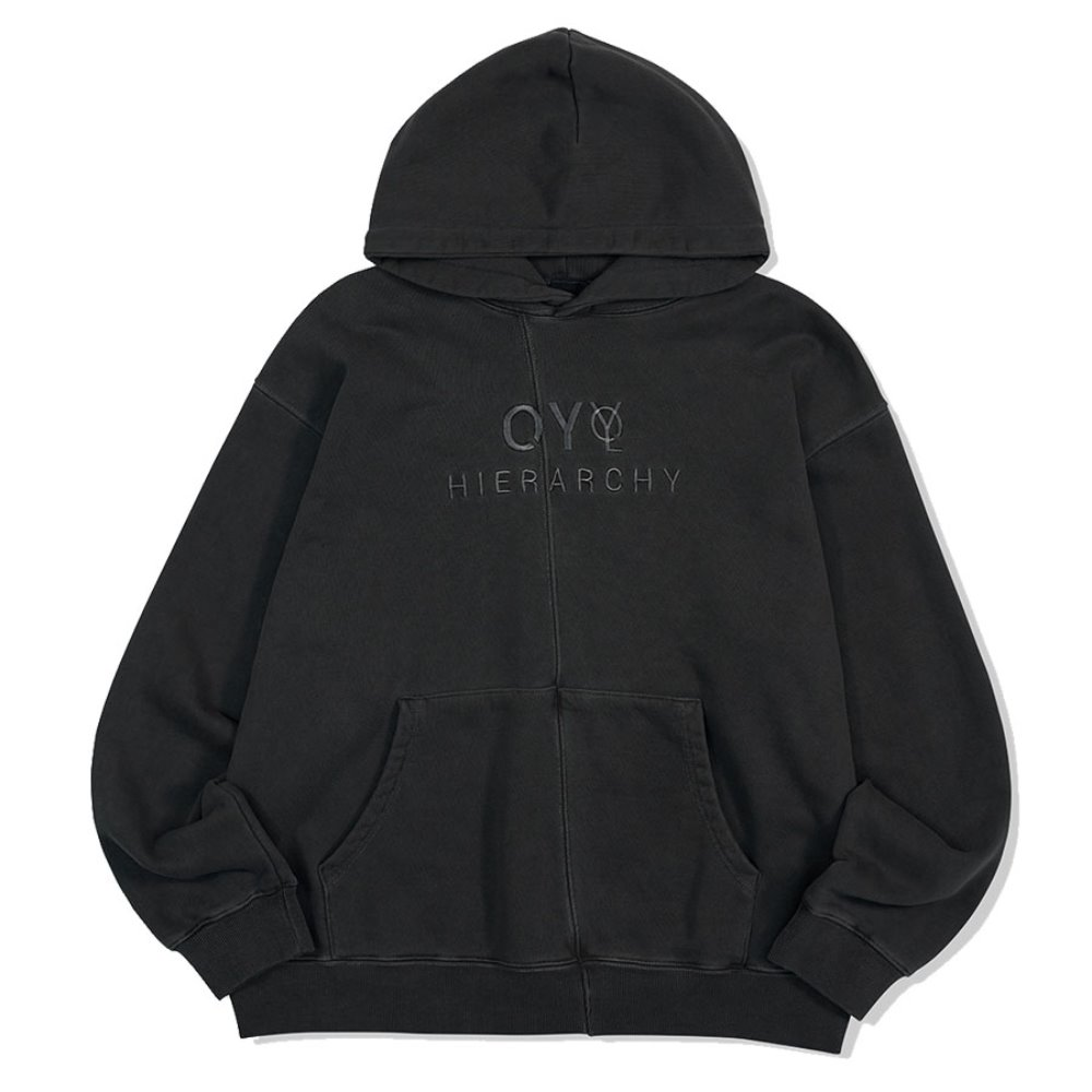 [OY] CUTTING PIGMENT HOODIE-BLACK