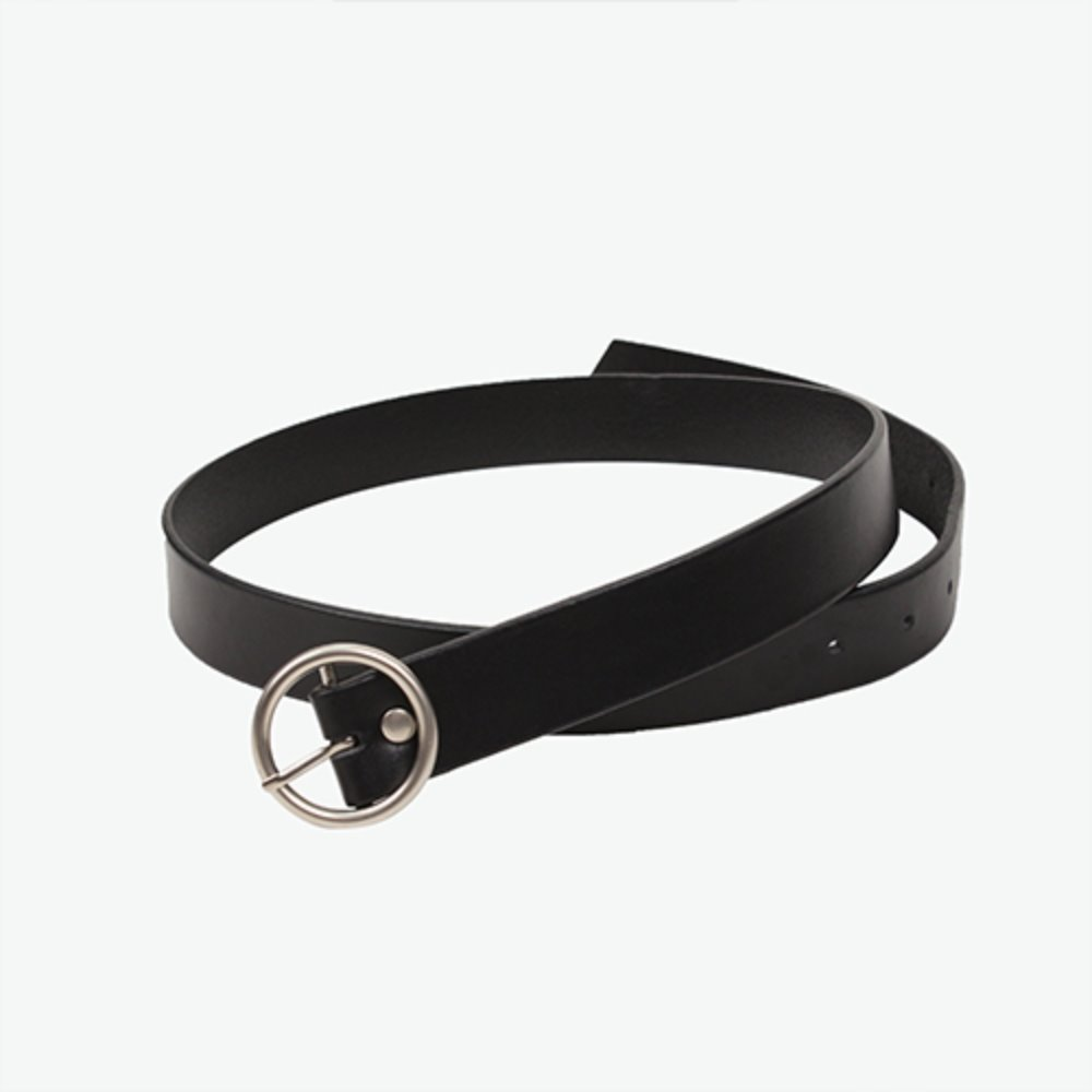 [IRONYPORNO]SIGNATURE LOGO O-RING BELT IRA001 BLACK