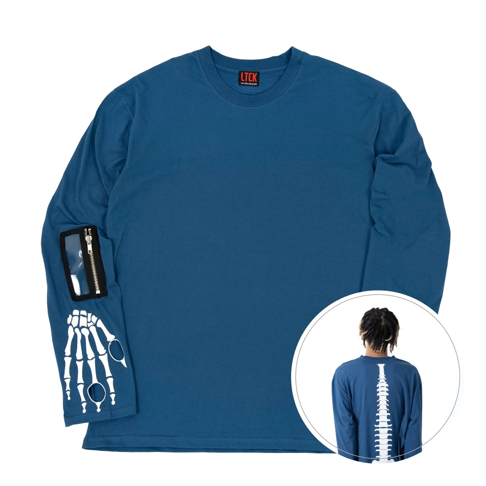 [엘티씨케이] Bone Long Sleeve - STEEL BLUE