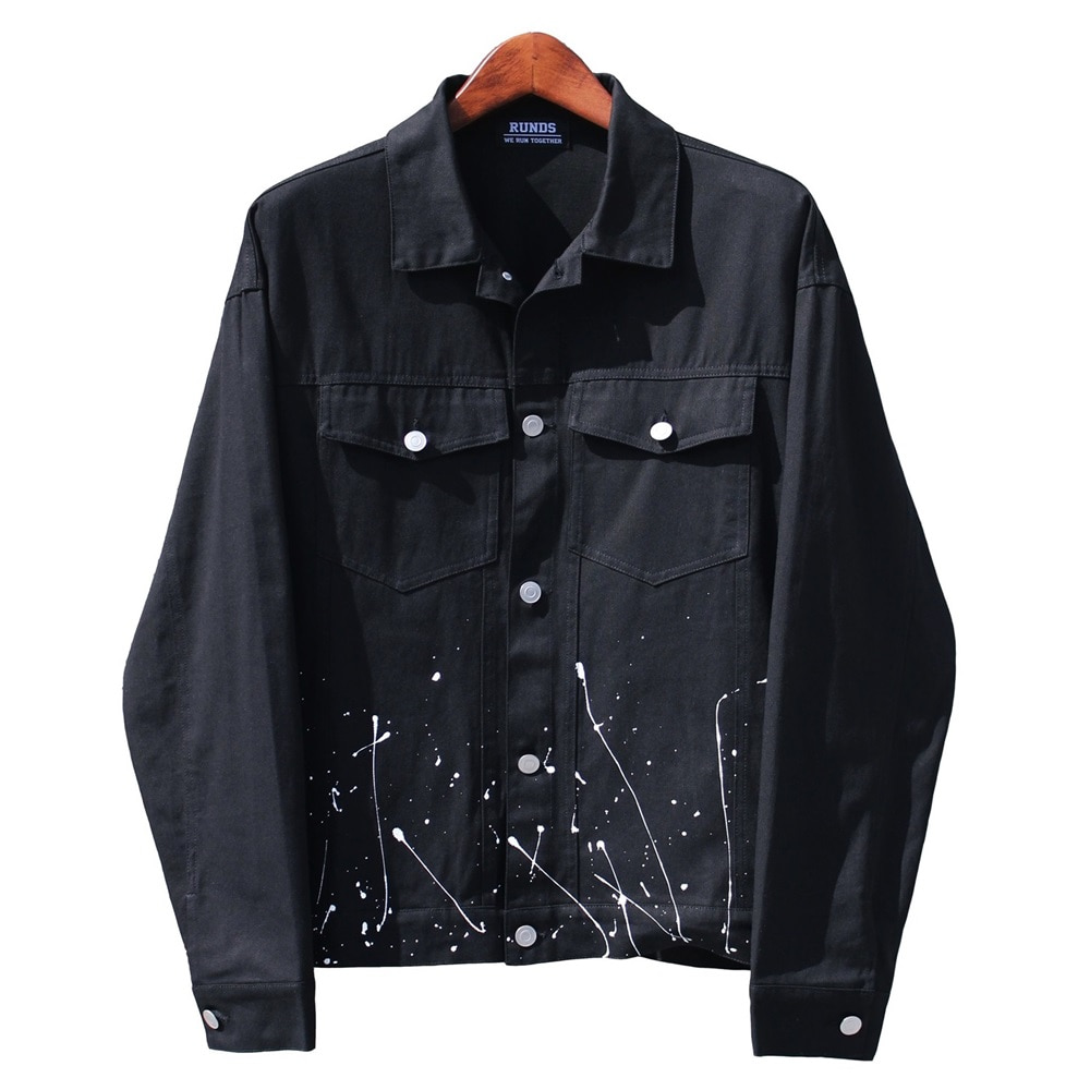 [RUNDS] painting trucker jacket