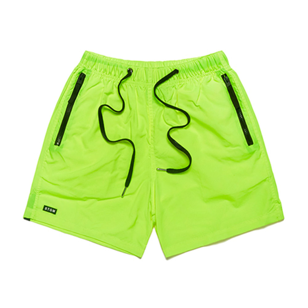 [STIGMA]RUBBER SHORT PANTS - NEON GREEN