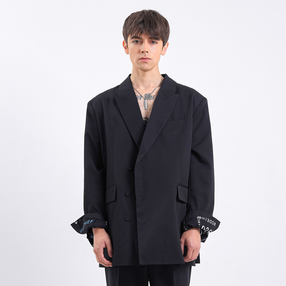 [라모드치프] LAMODE OVERFIT HIDDEN MIND BLAZER (BLACK)