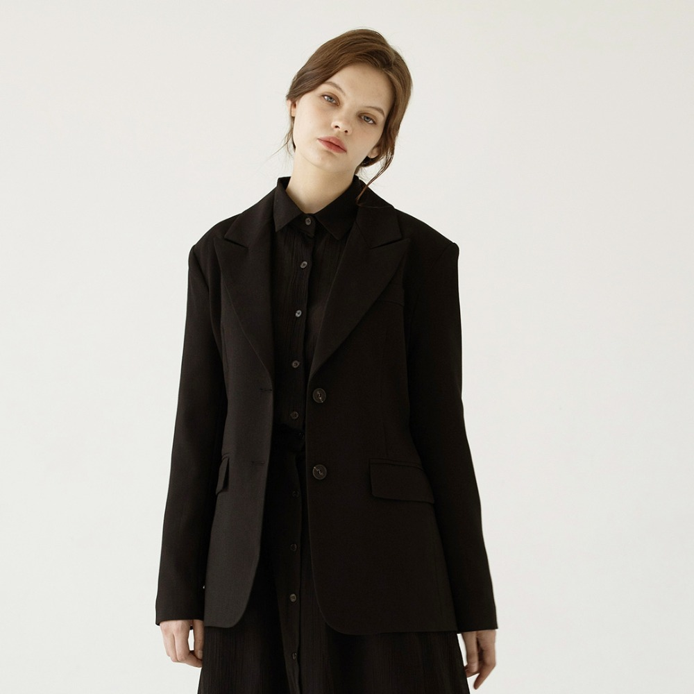 [ARDOROBE] back slit jacket AJK201001-BK