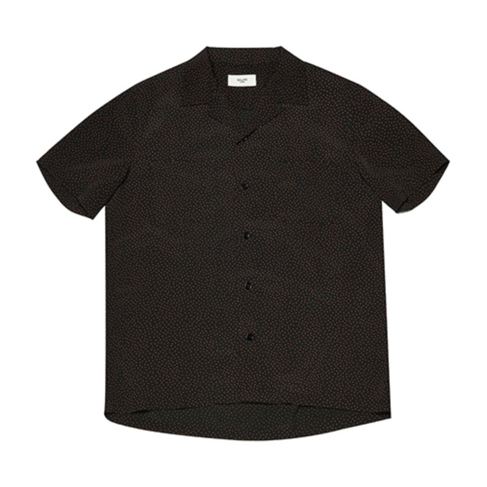 [Rolling Studios] HAWAIAN SHIRT MICRO DOT BLACK/RED