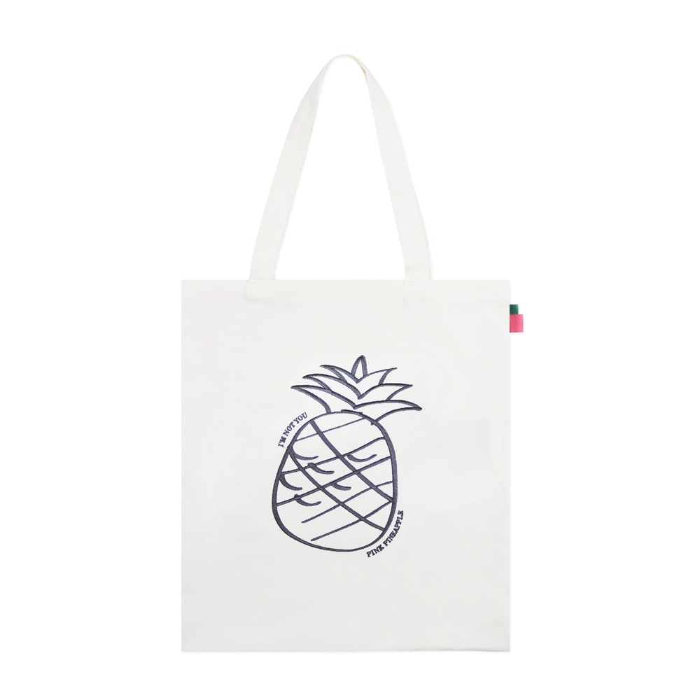 [핑크파인애플] BIG LOGO ECO BAG_IVORY