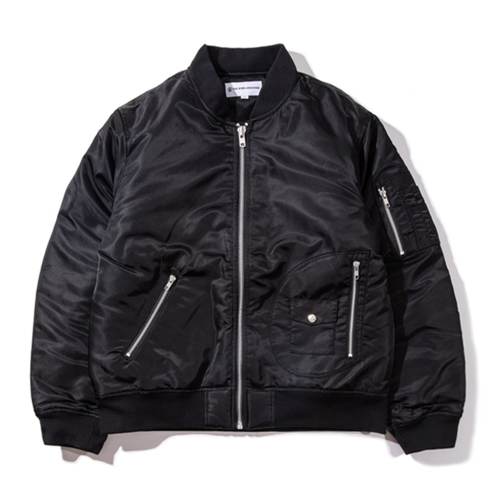 [KING]Quilted MA-1 Flight Jacket -Black